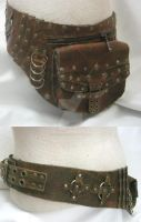 Suede Lined Hip Bag by OfTheGodsBlood