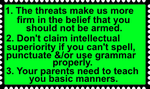 Moms against guns response to threats by JediSenshi