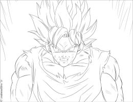 Goku going Super by condemned2love