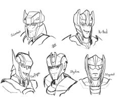 TFP Aerialbots sketches by Wrecker-lady