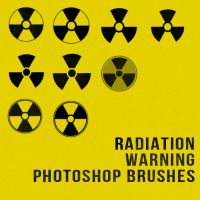 Radiation Warning Symbol Photoshop Brushes by sdwhaven