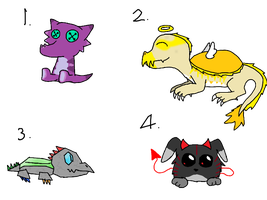 Hatched adoptables! by GoldHasABayleef