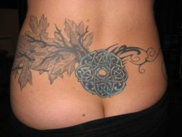 Leaves Celtic work tattoo 2 by aquados