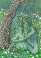 Willow Dryad by Flyttamouse