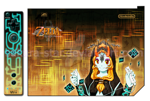 Wittle Midna + Wiimote design by Sakura-Star