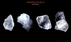 Material Study.6 [Ice Chunks.1] by 6syker6