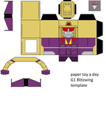 paper toy a day G1 Blitzwing template by lovefistfury