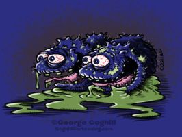 Bludgeoned Blueberries Cartoon Character Sketch by gcoghill