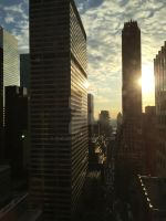 Early morning November New York. by Chaldean