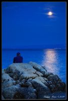 Man and the Moon by Lidija-Lolic