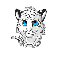 Tiger chibi for Blackspirit ^^ by FireMoon9