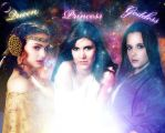 Queen, Princess, and Goddess by DistantDream