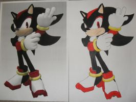 Shadow the Hedgehog drawing by Shadilverfan55
