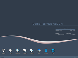 My desktop April to May by iron2000