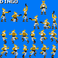 Fan Art: Dingo Sprites by lightningdogs