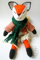 Red Fox - soft sculpture plush by nekojizou