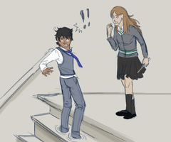 Stuck in the Stairs by GeoCaecias