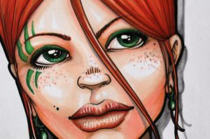 Copic-Girl detail by YoulDesign