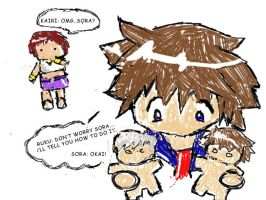 Sora caught in the act by edismine