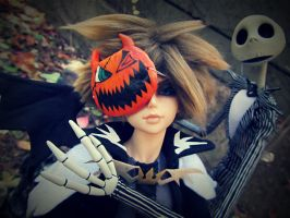 Sora and The Pumpkin King by PaintIt13lack