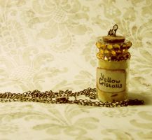bottle with yellow cristalls by Veil28