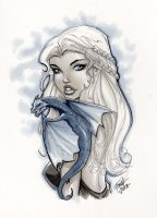 Game of Thrones Daenerys Targaryen by PatrickFinch