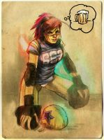 roller derby jammer by punchyninja