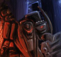 Armored Core 5 Speed paint. by Living-with-aliens