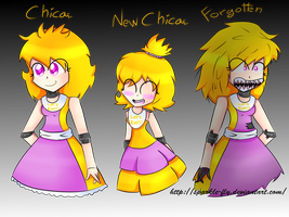 Five Nights At Freddy's: Human Chica by sparkle-fly