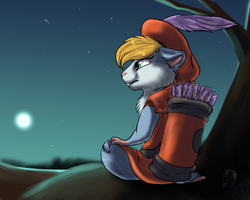 Under the moonlight by Husky-Foxgryph