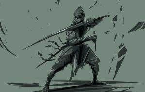 Ninja Sketch by psypher101