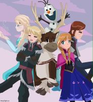Frozen !! by Artfrog75