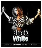 BW Party Flyer 'Black' by Jones500
