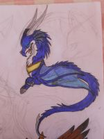 blue dragon by Myusuran-blackwolf