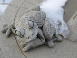 Frozen Sun-Dial Frog by Toderico
