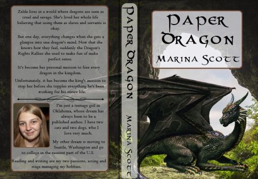Paper Dragon Book Cover by LuluLullaby2012