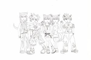KH Fox Gang by pikachewychu