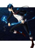 The Blue Exorcist by KUNGPOW333