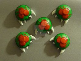 Clay Metroid Magnets by HeyLookASign