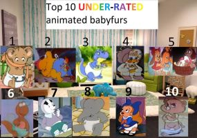 My top 10 Under-rated babyfurs by BlazeHeartPanther