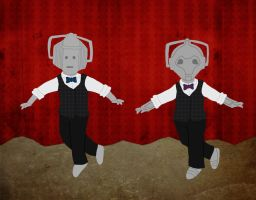 Cybermen With Bowties Dancing Tap by whosname
