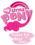 Fanart - MLP. My Little Pony Logo - Pinkie Pie by jamescorck