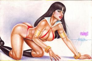VAMPIRELLA art by JUN DE FELIPE by rodelsm21