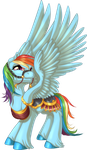 Carousel Rainbow Dash by KittehKatBar