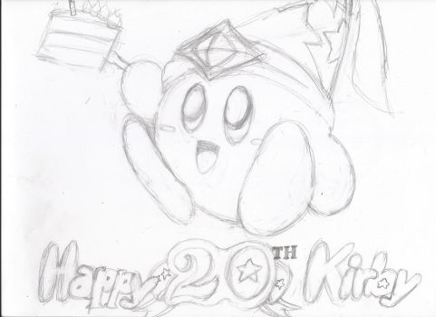 Happy 20th Anniversary Kirby! by MarioChief