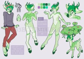 genderpunk plant babe reference sheet by B33B
