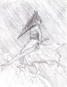 My Burden of the Pyramid head by legnaus