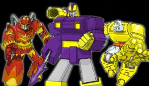 Flame, Impactor and Xaaron by Mr-Alexander