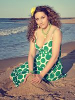 Green Polka-Dot Dress by RussianJewel