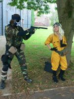 Naked Snake vs EVA Amecon '12 by KaniKaniza